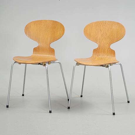 "Stolar, ett par, ""myran"", arne jacobsen, fritz hansen, 1969"