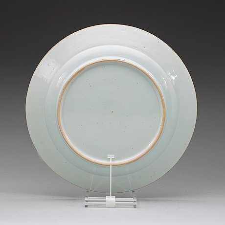 A blue and white dish, qing dynasty qianlong (1736-95).
