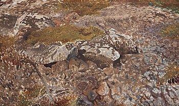 """720. Bruno Liljefors, """"Ormterräng"""" (Snake terrain)."""