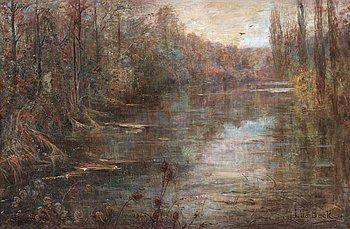 713. Julia Beck, River landscape.