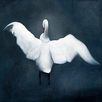 "495. ERIC HYNYNEN, ""A SWAN""."