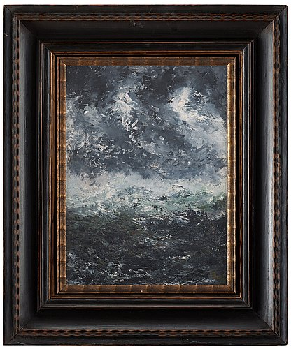 August strindberg, storm landscape.