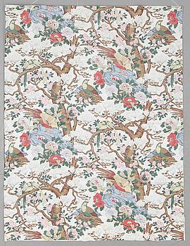 "HISSGARDIN, chintz, ""Magnolia"", GP & J Baker, Firma Svenskt Tenn. Ca 298 x 195 cm."