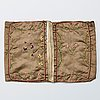 A wallet, silk. 15,5 x 12 cm. sweden 1795.