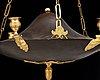 A swedish empire 19th century six-light hanging lamp.