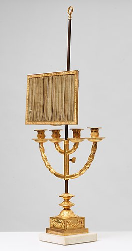 An empire early 19th century table lamp.