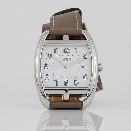 "Armbandsur, ""hermès cape cod tonneau"", hermès, formgivare henri d´origny (1991)."