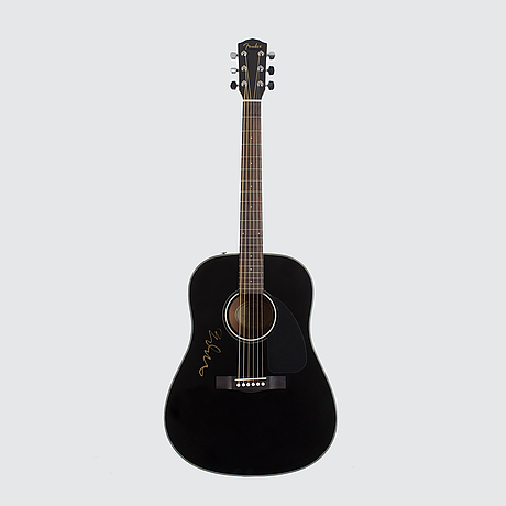 Fender gitarr modell cd-60, signerad av björn ulvaeus.