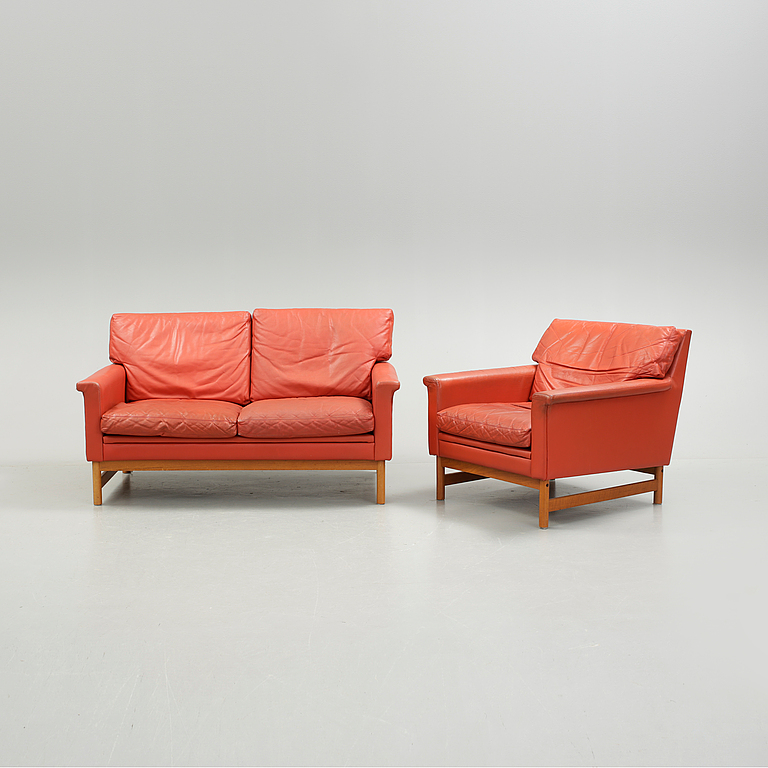 fåtölj skinn ikea ~ fÅtÖlj och soffa, ikea, 1960tal teak och skinn