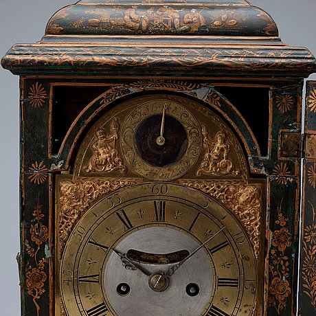 An english 18th century table clock, dial signed markwick london.