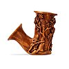 A swedish 19th century carved wooden pipe bowl by s. isberg .