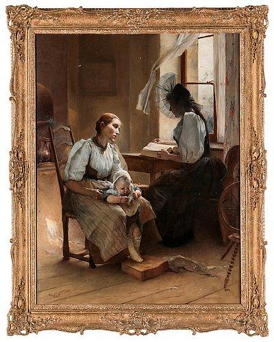 "Auguste emile pinchart, ""andakt"" (devotion)."