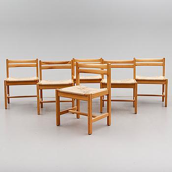 STOLAR, 6 st, ur serien Asserbo, Børge Mogensen, Karl Andersson & Söner, 1900-talets andra hälft.