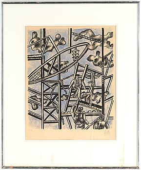 FERNAND LÉGER, färglitografi, signerad, numrerad 7/75.