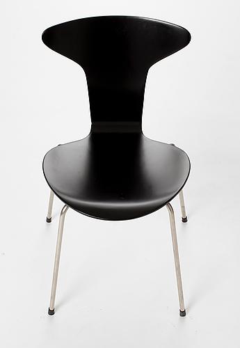 """Stol, """"myggan/mosquito/model no 3105"""", arne jacobsen, fritz hansen, 1955."""