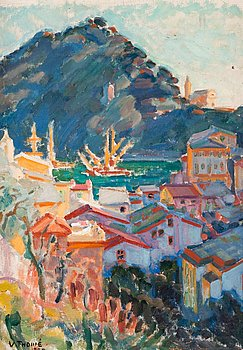 7. VERNER THOMÉ, VIEW FROM PORTOFINO.
