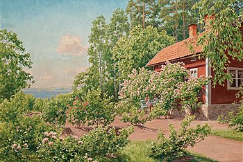 738A. JOHAN KROUTHÉN, In the garden.