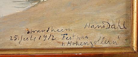 """Hans dahl, """"strandheim 25 juli 1912, fest paa hohenzollern"""" (strandheim july 25 1912, party on the hohenzollern)."""