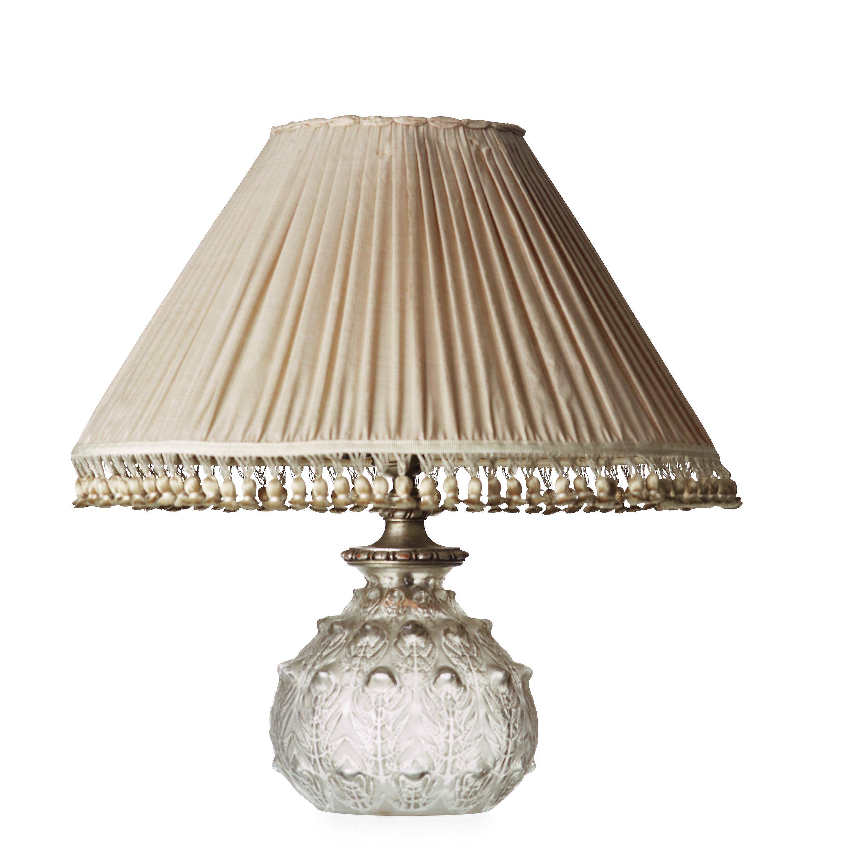 RENÉ LALIQUE, A Cast Glass U0027Fougèresu0027 Table Lamp, France 1920 30u0027s, Model  923.   Bukowskis