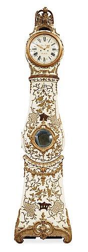 A Swedish Rococo 18th century longcase clock by Claes Berg, master 1762.