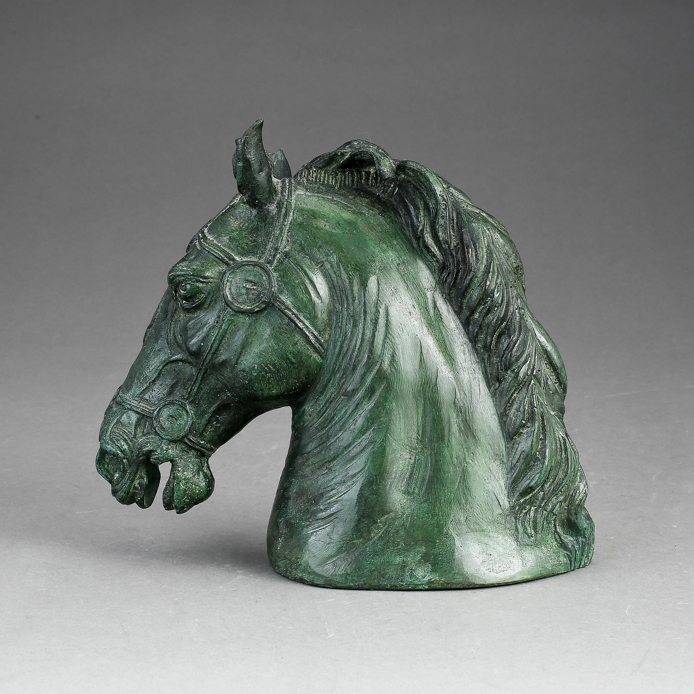 Skulptur Modern skulptur brons efter aurelius häst på piazza