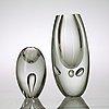 """Timo sarpaneva, vas, """"claritas"""" och skulptur, modell 3575,  iittala, finland 1986 och 1956."""