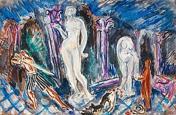 53. NILS VON DARDEL, akvarell.