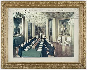 LENNART NILSSON, LENNART NILSSON, foto från Riksdagens Konselj på Stockholms slott den 10 december 1965.