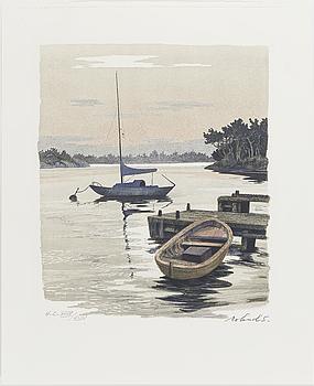 ROLAND SVENSSON, färglitografi, signerad och numrerad.