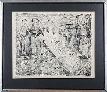 NIKOLAI LEHTO, litografi, signerad, daterad -61 och numrerad T.p.l'a 2/6.