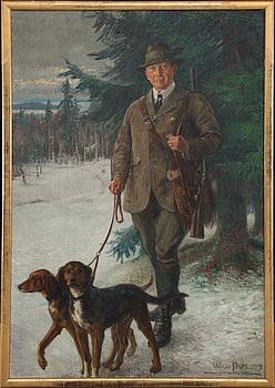 WILLIAM PAPE, olja på duk, signerad o daterad Fylleskog 1919.