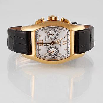 ARMBANDSUR, Girard Perregaux - Richeville Chronograph, 18k guld.
