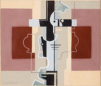 """15. Sven Jonson, """"Komposition med kors""""."""