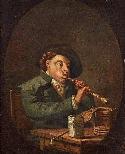 Pehr hilleström, a flute player.