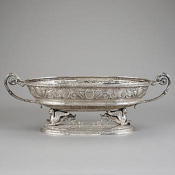 JARDINIERE, silver, fantasistämplar, Frankrike, Empirestil, vikt 4010 gr.
