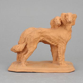 GRETA VON BRAUN-GIESENFELD, skulptur, lergods. Sign.