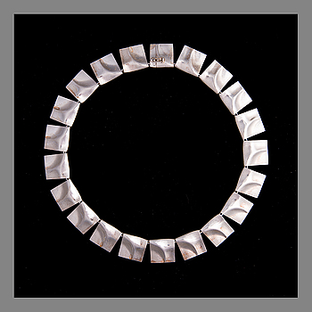 BJÖRN WECKSTRÖM, NECKLACE. Galactic Tops. Streling silver, Lapponia 1976.