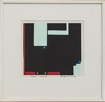 OLLE BAERTLING, färgserigrafi. signerad, numrerad 277/300, och daterad 1951-68.