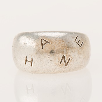 RING, sterlingsilver, Chanel. Vikt 16,6 g.