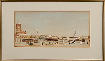 GEORGES WINTER, akvarell, signerad och daterad 1898.