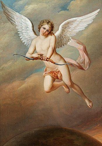 "Fredric westin, ""en amour skjutande en pil"" (= amor shooting an arrow)."