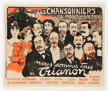 JULES ALEXANDRE GRÜN, Affisch uppfäst på duk, 1897.