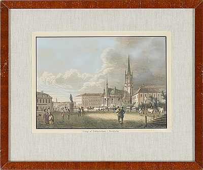 ETSNINGAR, 4 st. 1800-tal.