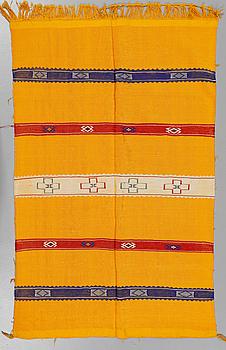 MATTA, silke, Kelim, Nordafrika, omkring sekelskiftet 2000, ca 140x91 cm.