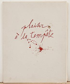 JAMES COIGNARD, mapp, 4 st,carborundumetsning PLAISIR À LA TEMPÊTE. Numrerade 22/30 och signerade. Éditions Semios.