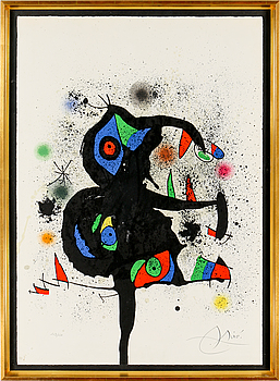 JOAN MIRÓ, färglitografi, signerad och numerad 103/150.