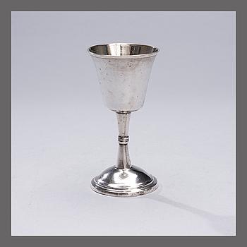 JALALLINEN RYYPPYPIKARI, hopeaa. Fredrik Wesander 1793-1819 Rauma, Suomi.