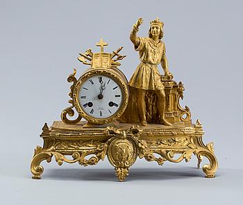 "BORDSPENDYL, nyrokoko, ""Buret a St Denis"", 1800-talets andra hälft."