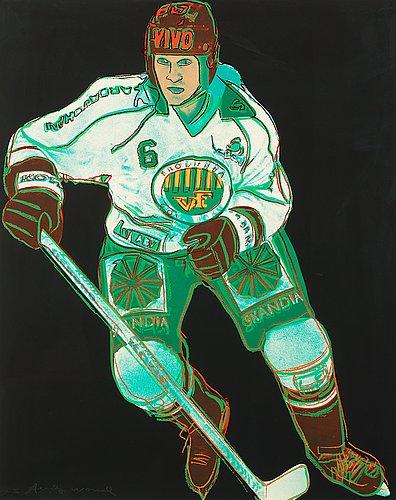 """Andy warhol, """"frölunda hockey player""""."""