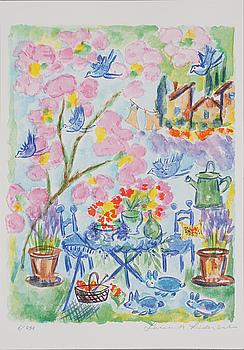 LENA LINDERHOLM, färglitografi, signerad och numrerad 6/250.